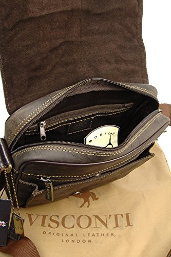 Borsa organiser in pelle Messenger Notebook/ipad Visconti 16011 Olio Marrone