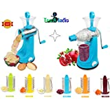 TrackIndia Transparent 7 In 1 Rotary Drum Grater Slicer And Shredder With Juicer( 1st Time In India With Juicer Attachment)