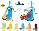 #2: Kitchen Khajana™ Transparent 7 in 1 Rotary Drum Grater Slicer And Shredder With juicer( 1st Time in india with juicer Attachment)