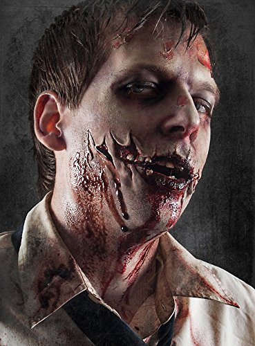(Zombie Wunde Latexapplikation Special Effect Set 3-teilig Halloween Make-Up)