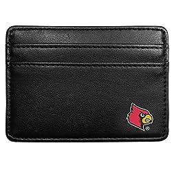 NCAA Louisville Cardinals Leather Weekend Wallet, Black