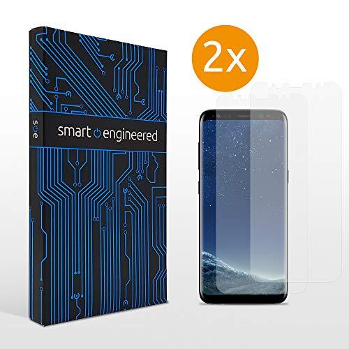 [2 Stück] 3D Schutzfolien matt kompatibel mit Samsung Galaxy S8 - [Made in Germany - TÜV] - Hüllenfreundlich - Transparent - Selbstheilend - kein Glas sondern Panzerfolie TPU