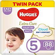 Huggies Extra Care Pants Size 5 Jumbo Pack, 88 Diaper Pants - Pack of 1