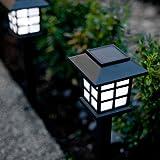 Offre Spéciale : Lot de 9 Lanternes Solaires à Piquet avec LED Blanche de Lights4fun