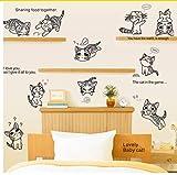 Adesivi murali Fai da te formaggio gatto animale cartone animato adesivi murali per camera dei bambini decalcomanie di arte pvc wall sticker home decor decorazione adesivo sul muro