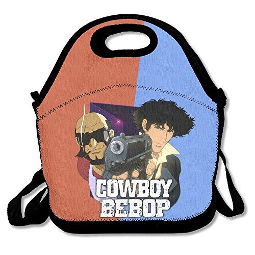 Multifuncional bolsa para el almuerzo, diseño de cowboy bebop Lunch Tote bolsa/mochila para niños y adultos