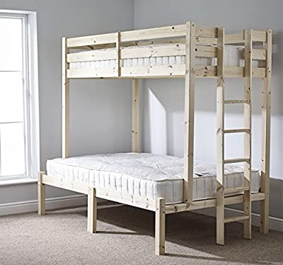 Strictly Beds Duke Triple Sleeper Triple sleeper bunk bed - 4ft 6 double Three sleeper bunkbed - Can be used by adults