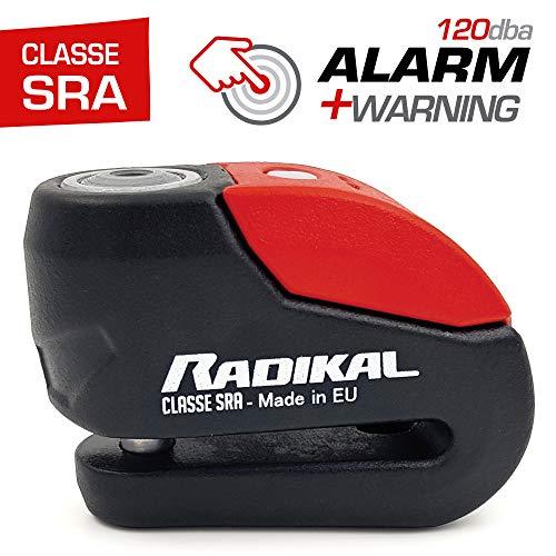 Radikal rk10 antifurto blocca disco allarme 120 db omologato sra, ø10 doppia chiusura