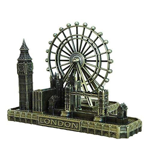 Deerbird® Retro Ciudad Figurines Ojo Londres Gran