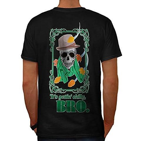 Kühl Bro Skelett Schädel Kostüm Kunst Herren M T-shirt Zurück   Wellcoda (Clown Kostüme Ziel)