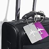 Etiquettes d'adresse ATA® Travel Holiday Bagages - (8 Pack) Etiquettes d'adresse ID pour sacs à main Suitcase - Etiquettes fortes...
