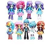 PONY GIRLS 9Pcs/set Model Cartoon Characters Rarity Kunai Toys Dolls