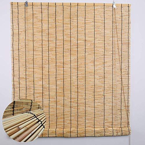 Bambusrollo Hand-Woven Natur Reed Vorhänge, Bambusrollos Luftschlitz-Fenster Inneneinrichtungen, Wasserdicht Sonnenschirm, 60cm / 80cm / 100cm / 120cm / 140cm Breite (Size : W 120×H 240cm) -