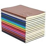 GRT A5 PU Cuero Colorido Cuaderno de Redacción Diario Cuaderno Cuaderno Diario Lindo Diario de Viaje (Juego de 4 Colores Aleatorios)