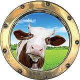 StickersNews TATOUTEX Aufkleber L Auge Deko Kuh OEM: Bullauge 1128, 50x50cm