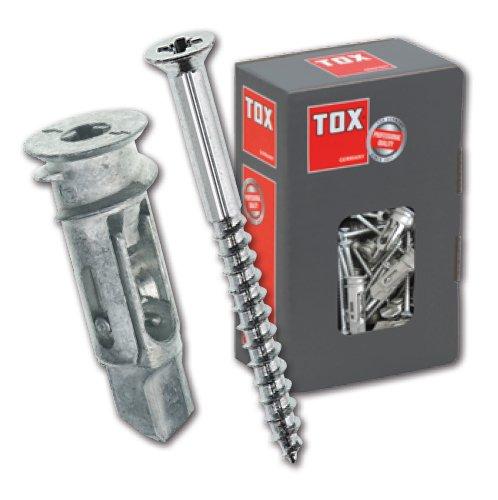 TOX Gipskartondübel Spiral Pro 39-5 mit Schraube im Blister, Inhalt 4 Stück, 068701051