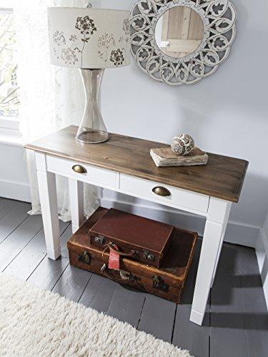 Canterbury Console Table in Dark Pine and White Noa & Nani