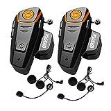 QSPORTPEAK BT-S2 Bluetooth Motorrad Intercom Headset Wasserdicht Helm Gegensprechanlage Wireless...