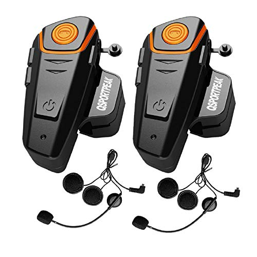 QSPORTPEAK VNETPHONE Auriculares Intercomunicador Bluetooth para Casco de Motocicleta Moto Intercom Headset...