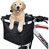 Bolsa de bicicleta Carrier Bike Basket, ANZOME Mascota desmontable plegable Pequeño Animal Dog Cat Rabbit