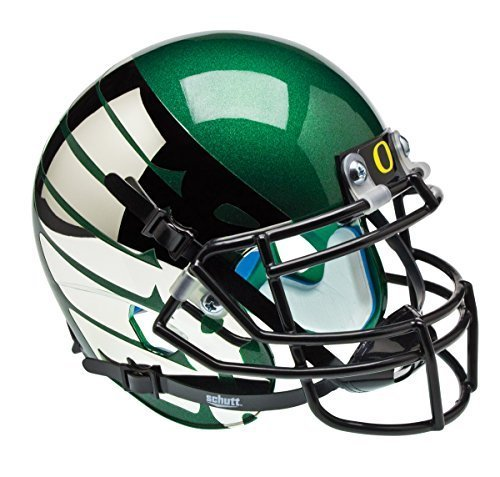 NCAA Oregon Ducks Green Wing Authentic Helmet, One Size by Schutt