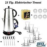 Elektrischer Teekocher Caymatik Teekanne Teemaschine Teebereiter Wasserkocher 2200 Watt 2,7 Liter Oder 4,4 Liter Samovar
