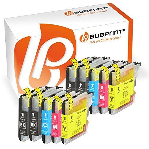 Bubprint 10 Druckerpatronen kompatibel für Brother LC 985 LC985 LC-985 für DCP J125 J 125 140W...