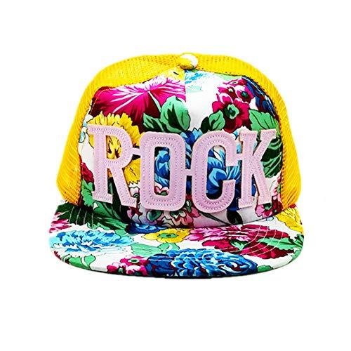 MAOZIJIE Blumen Drucken Sommer Rock Kinder Baseball Caps Baby Jungen Mädchen Sommer Sun Mesh CapsHut