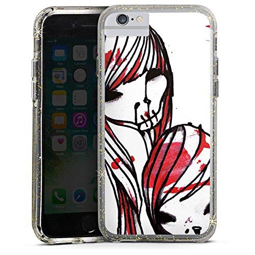 Apple iPhone 8 Bumper Hülle Bumper Case Glitzer Hülle Deadhoxtongirls Gloria Bloody Bumper Case Glitzer gold