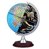 FOONEE AR 3D World Globe, 3in 1bambini Illuminated Globe, Small World Globe View giorno e notte View mappamondo globo interattivo per bambini adulti