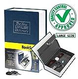 #4: Docoss -(Large Size Xl) Hidden Secret Book Safe Locker Vault Box With 2 Keys Jewelry Money Cash Locker
