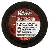 L'Oréal Paris Men Expert Barber Club Styling Cream Crema Modellante per Barba e Capelli, 75 ml