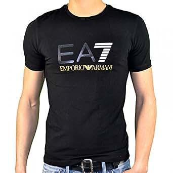 Ea7 Emporio Armani - Tee Shirt Manches Courtes - Homme - Train Graph Tee - Noir Jaune - XXL