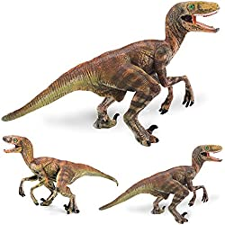 LU2000 Simulación sólida dinosaurio modelo Velociraptor plástico animales juguetes Dinosaur Colección decoración - medio (Q9)
