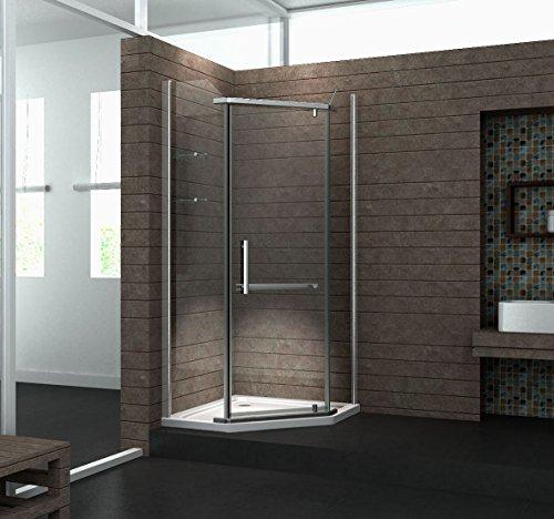 Fünfeck-Duschkabine PENTAGONO 90 x 90 x 195 cm ohne Duschtasse