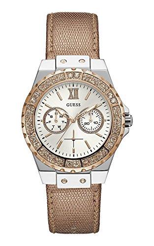 Guess orologio multi-quadrante quarzo donna con cinturino in pelle w0023l7