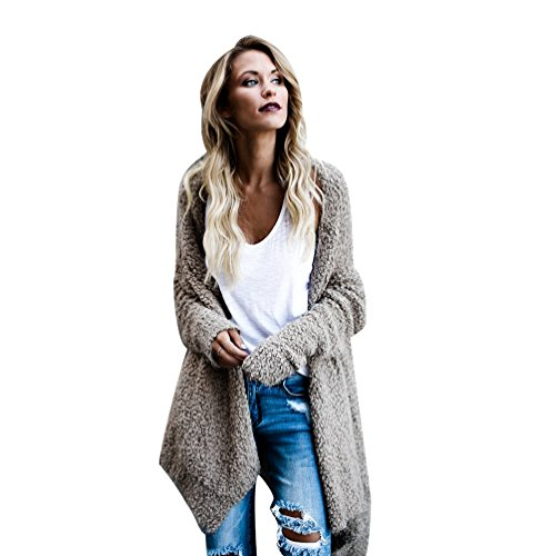 NiSeng Femmes Tricots Pulls Gilet Irrégulier Casual Cardigan Manteau Pull Manches Longues Outwear Tops Kaki