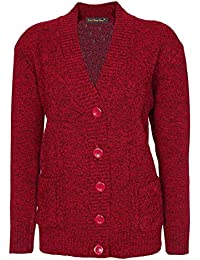 Lets Shop Shop New Classic Womens Cardigan Ladies Sizes 10-20 Cable Knit  Long Sleeve db2946f61