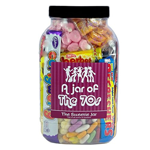 A Jar of 70's Sweets - Full of Retro Sweets from the decade