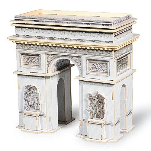 Lychee 3D legno puzzle Construction Kit, Torre Eiffel Arco di trionfo Big Ben Tower Bridge Woodcraft fai da te modello, grande architettura del mondo-JPD559