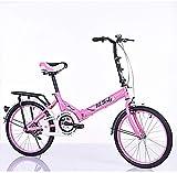 Kinder Fahrrad,Falten Gewöhnliche Student Leicht-LKW Stahl 20 Zoll -rosa 20inch