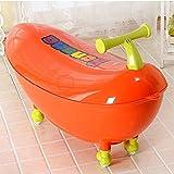TIDLT Badewanne Babybadewanne Kinder-Flaschenzug PP-Material Farbtemperaturkarte Dual-Use Grün Orange (Farbe : Orange)
