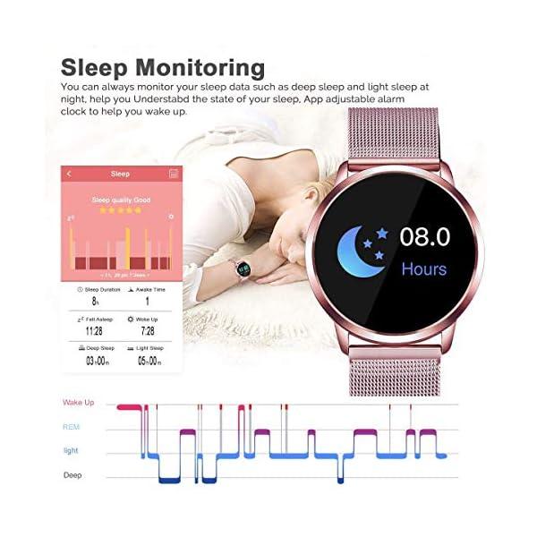 Naack Reloj Inteligente Pulsera Monitor de frecuencia cardíaca smartwatch Monitor De Ritmo Cardíaco Mujeres Hombres… 16