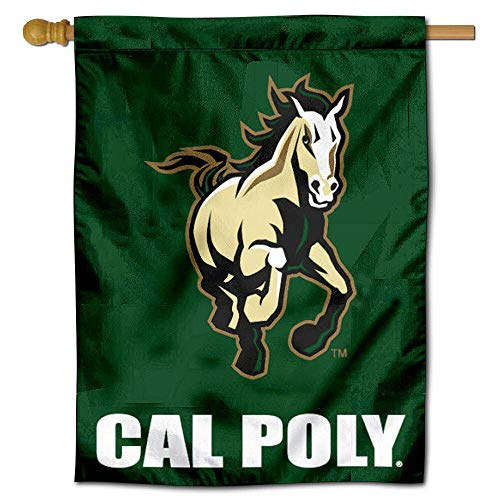 College Flags and Banners Co. Cal Poly Mustangs House Flagge - Poly Flag Banner