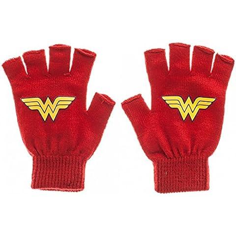 DC Comics-- Guanti senza dita per travestimento da Wonder Woman con licenza ufficiale kg05bodco-Toys
