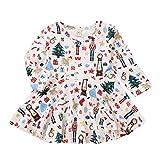 Riou Weihnachten Set Baby Kleidung Pullover Pyjama Outfits Set Familie Kleinkind Baby Baum langes Hülsen Karikatur Druck Party Kleid Weihnachts Prinzessin Cloth (80, Weiß)