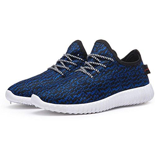 Miagolio Scarpe da Ginnastica Palestra Basse Uomo Donna Sneaker Sportive #2 Blu
