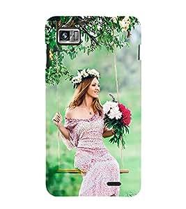 Fiobs Designer Back Case Cover for Lenovo K860 :: Lenovo IdeaPhone K860 (Beauty Girl Flower Garden)