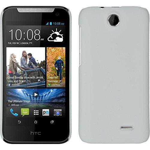 Coque Rigide pour HTC Desire 310 - gommée blanc - Cover PhoneNatic Cubierta + films de protection