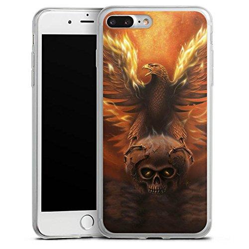 Apple iPhone X Slim Case Silikon Hülle Schutzhülle Adler Phönix Sonne Silikon Slim Case transparent